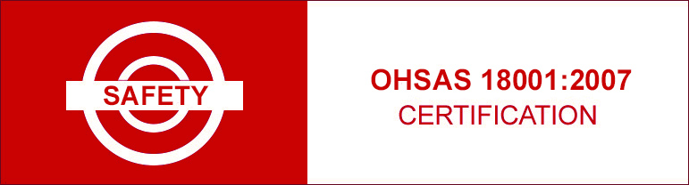 Safety certification OHSAS 18001:2007